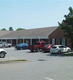 Eastern shore office parking area