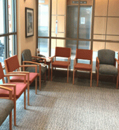 Tate cancer center waiting area